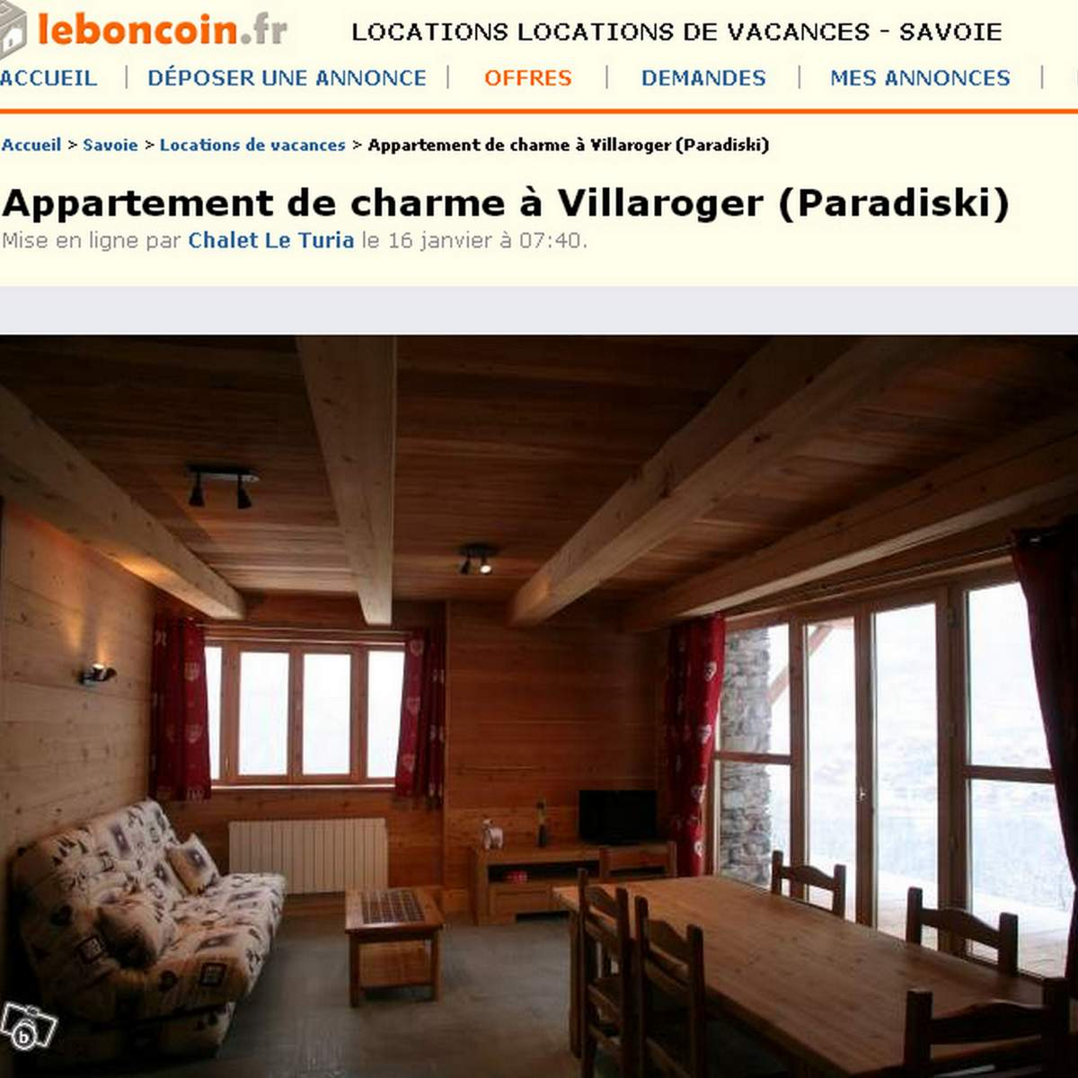 location chalet ski le bon coin